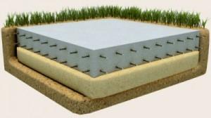 укладка фундамента из плит