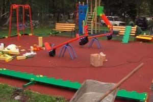 Устройство детских площадок