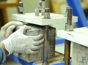 проверка прочности бетона в лаборатории