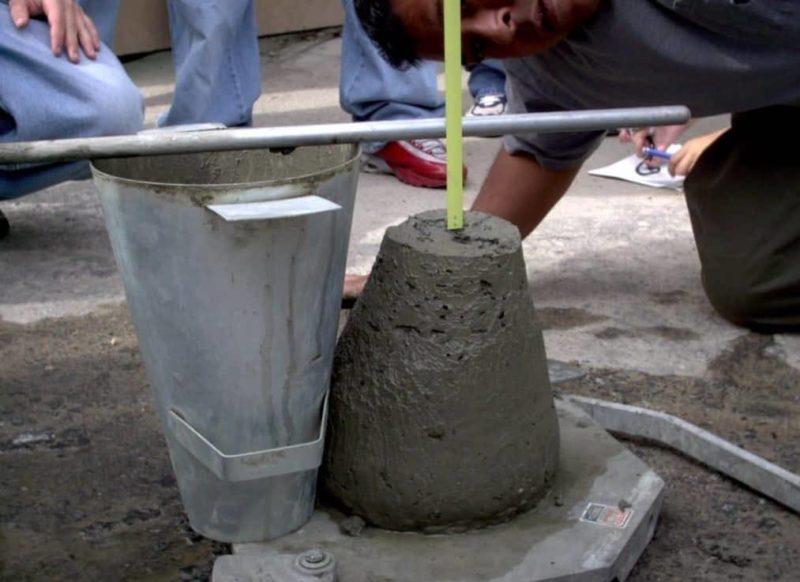 Фото определения подвижности бетона