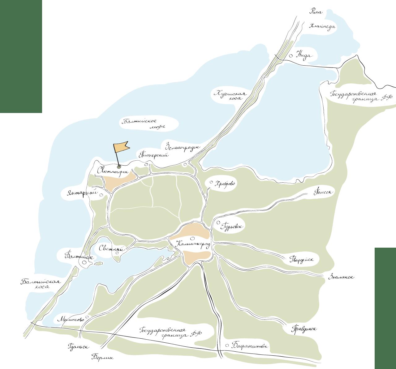 Фото карты Калининградской области
