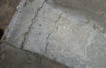 Фото трещины на бетоне
