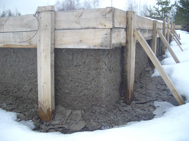 Фото заливки бетона зимой